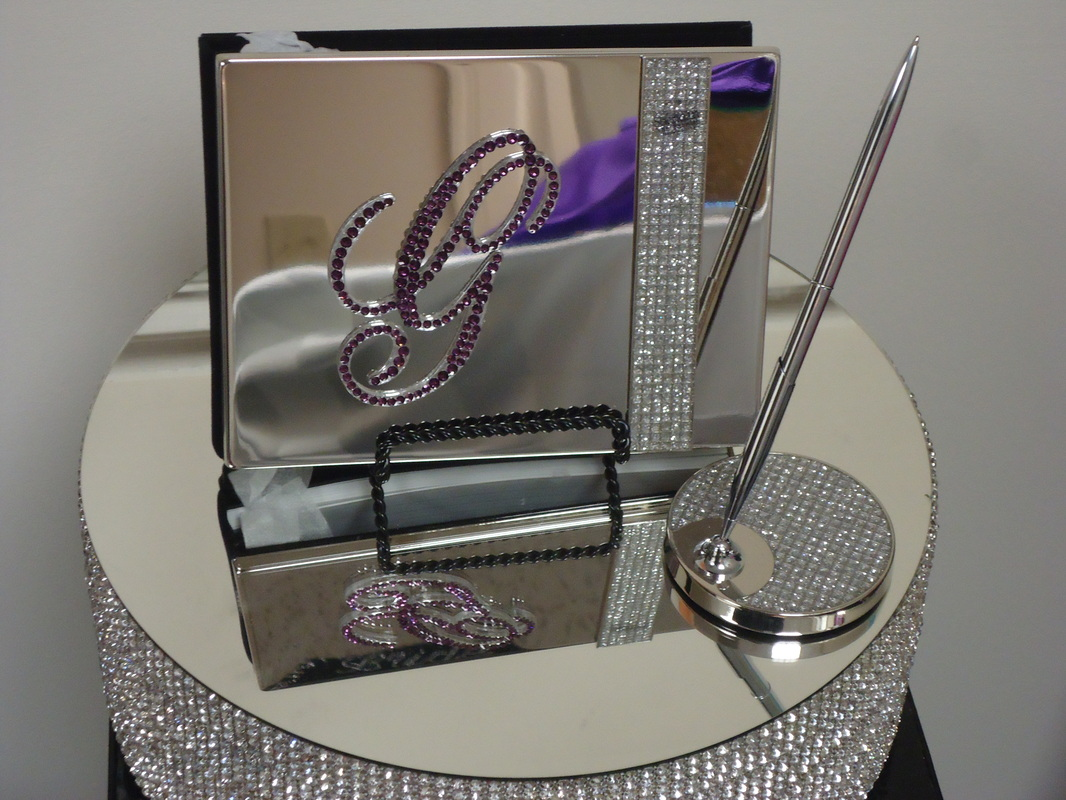 Glitter Galore Monogram Guest Book Pen Set 68 00 Plus 7 95 Shipping
